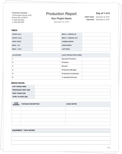 Fan Brand Report Card Template by Free Daily Production Report Template