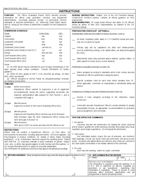 Officer Evaluation Report by Officer Evaluation Report U S Department Of Homeland