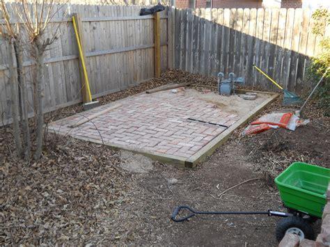oklahoma projects around the house diy brick patio