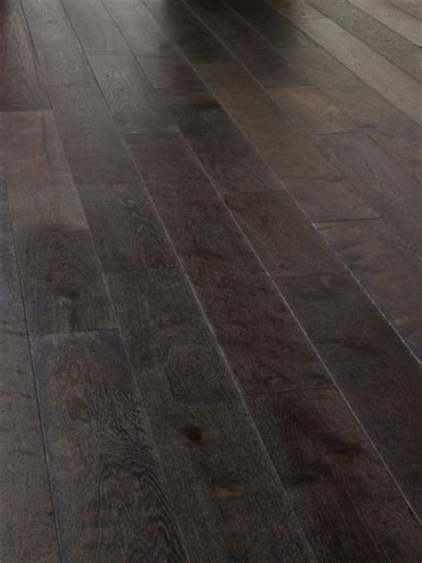 Oak, rustic, brushed , dark grey and UV oiled engineered