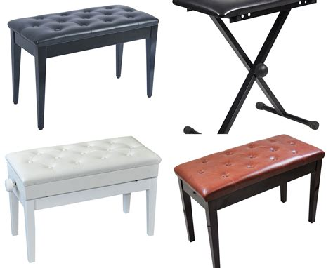 adjustable piano bench with storage luxury adjustable piano bench with storage compartment ebay