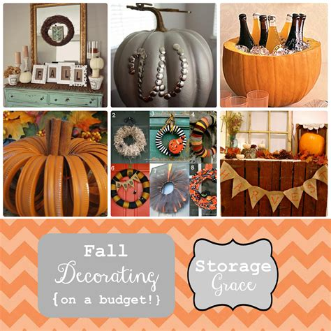 fall decorating on a budget storage grace fall decorating on a budget