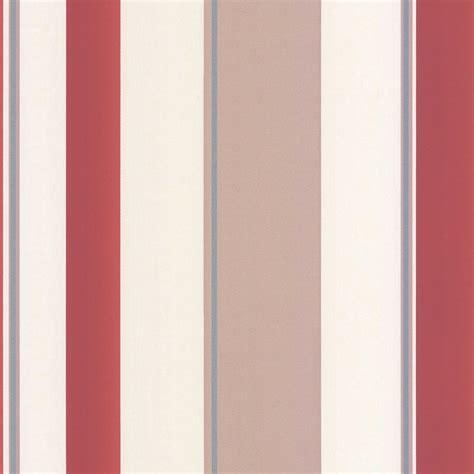 striped wallpaper pinterest erismann poppy striped wallpaper red taupe cream
