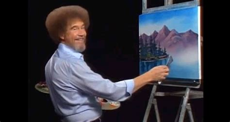 bob ross painting pbs bob ross is remixed in happy clouds