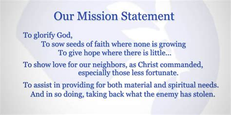 Food Pantry Mission Statement by The Care Mission Food Pantry Walker County Ga