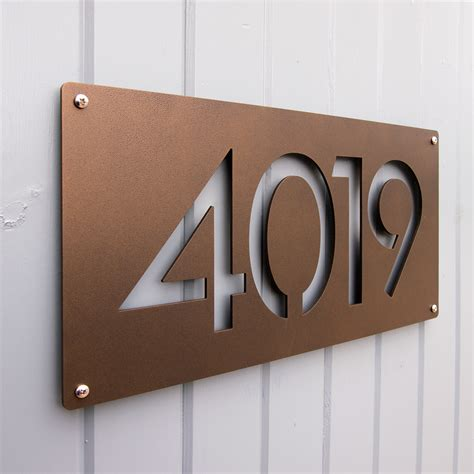 house numbers custom modernist house numbers in powder coated aluminum