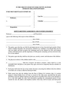 Custody Agreement Template by Sle Agreements Joint Custody Modifikasi Sepeda Motor