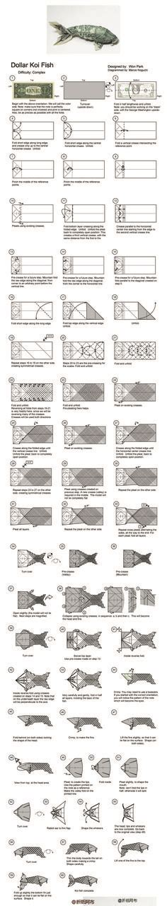 Origami Koi Diagram - 1000 ideas about origami fish on origami 3d