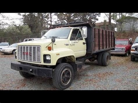 1990 gmc topkick dumptruck start up engine and in depth