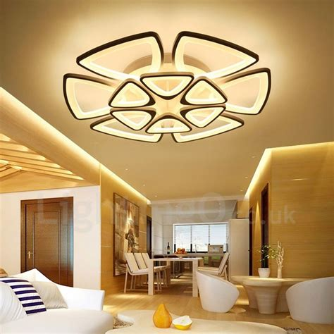 12 light modern contemporary led integrated living room