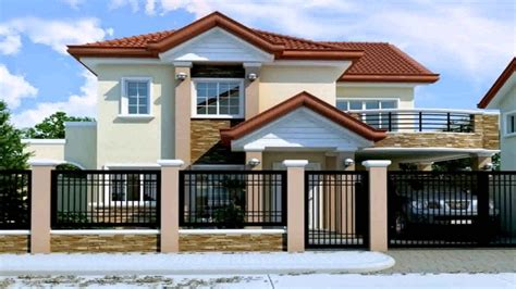 2nd floor house design in philippines 2 storey house design with floor plan in the philippines youtube