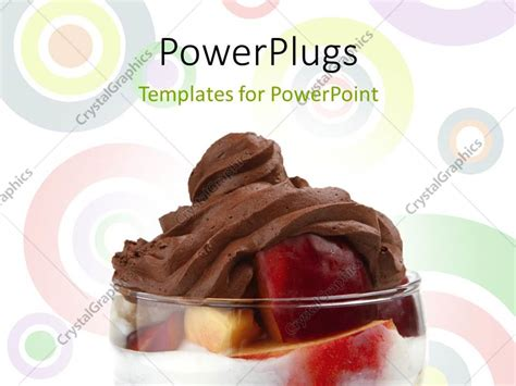 free ppt templates for chocolate powerpoint template transparent glass with red apple and