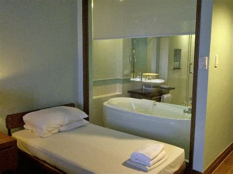 bathroom in the bedroom two twin beds king size bed picture of the lighthouse