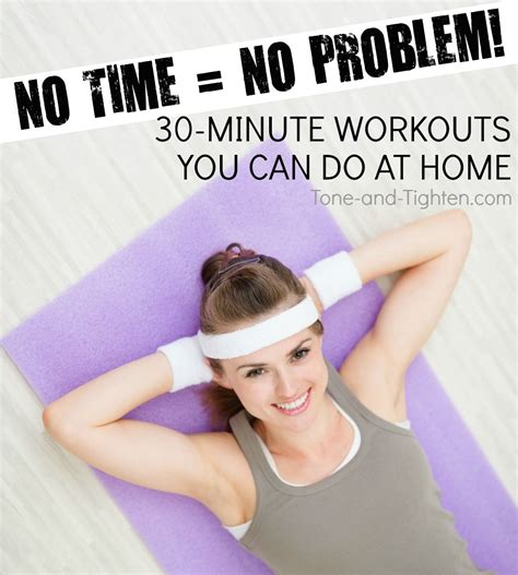 5 at home workouts tone and tighten