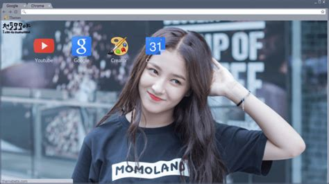 Nancy (momoland) Chrome Theme   ThemeBeta