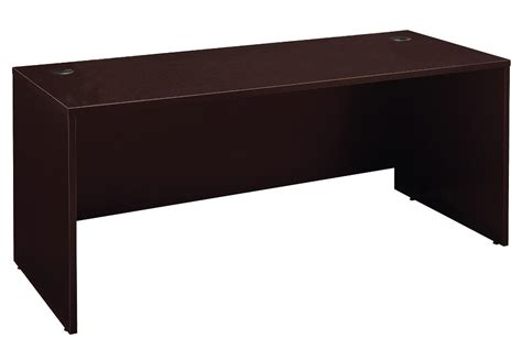 series c mocha cherry 72 inch desk shell from bush