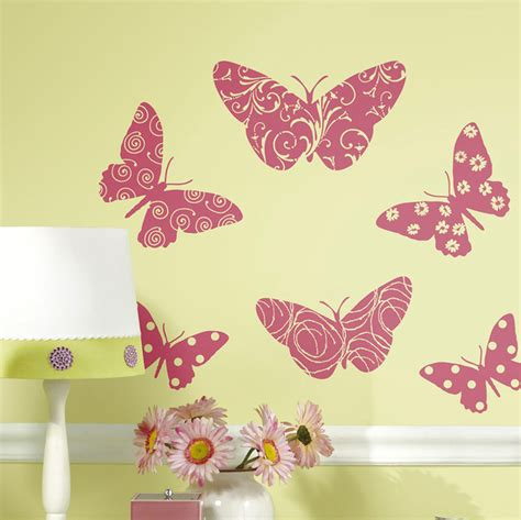 roommates wallstickers sommerfugle i velour