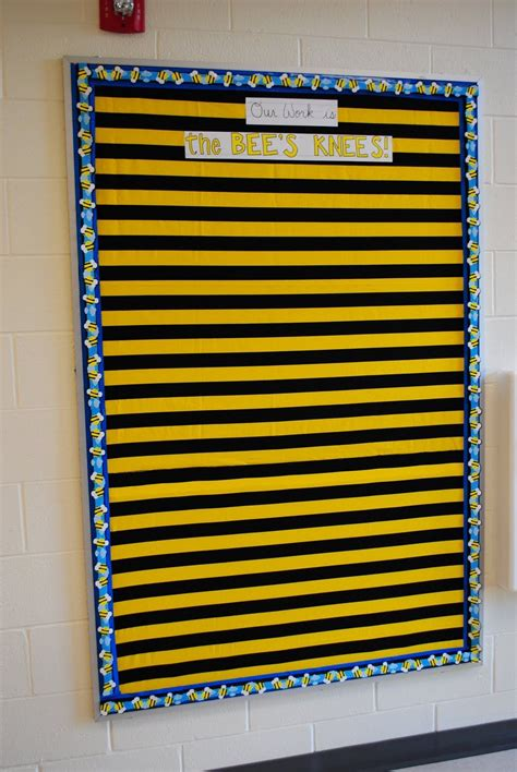 bees bulletin board  bees knees yellow paper