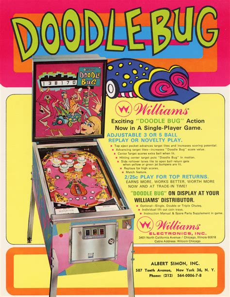 doodlebug facts the arcade flyer archive pinball machine flyers doodle