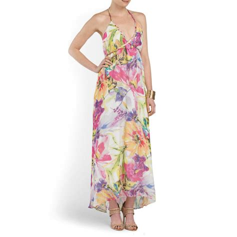 Dress Batik Fioni yumi silk floral print vastflora maxi halter dress small 279 ebay