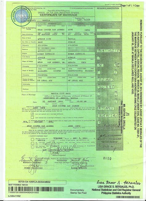 Marriage Records Philippines Part 6 Recto Certified