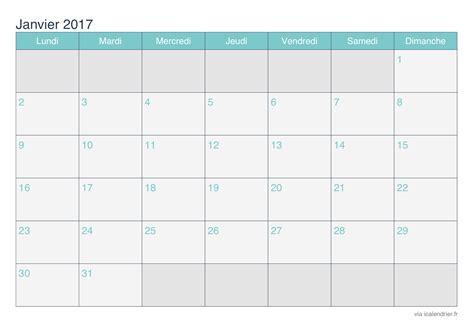 Kalender 2017 Monatsweise Calendrier Janvier 2017 224 Imprimer Icalendrier