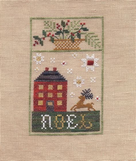 noel house noel house kit cross stitch kit chessie me kits