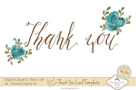 Thank You Note Illustrator Template Vector Amistyle Digital