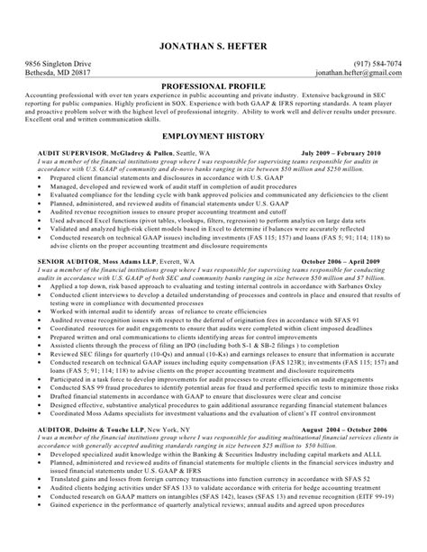 senior auditor resume colomb christopherbathum co