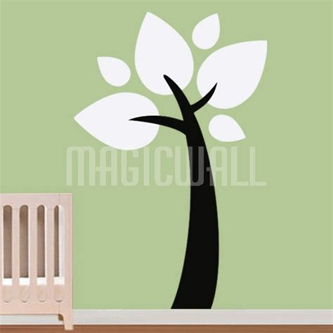 leaf wall stickers wall decals big leaves tree wall stickers