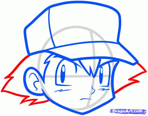 how to draw how to draw ash ketchum easy step by step