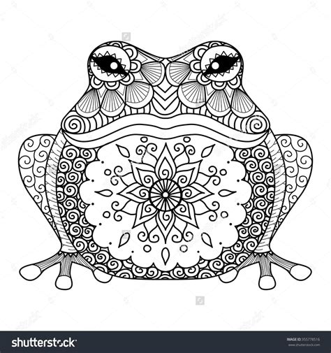 zentangle coloring book zentangle frog for coloring book for