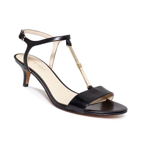 Connexion Agl Nine Sandal Gold lyst nine west yeelied t kitten heel sandals in black