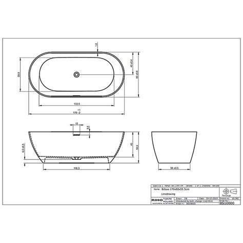 abmessungen badewanne riho bilbao freistehende badewanne 170 x 80 cm bs10 megabad