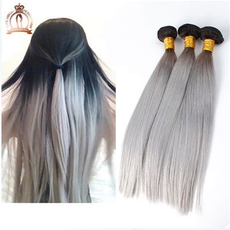 grey human hair extensions silver grey ombre hair extensions brown hairs