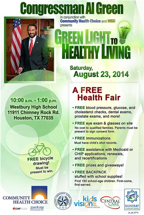 Free Health Fair Giveaways - green light to healthy living free health fair