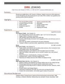 Lift Attendant Cover Letter by Template Astounding Exle Resume For Nanny Nanny Resume Time Resume Exles 87