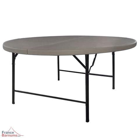 Table Banquet Pliante by Table De R 233 Ception Ronde Grise De 152cm Pliante En Valise