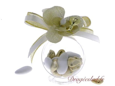 boule dragee comunion orchidee  achat emballage dragees