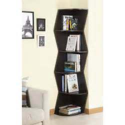 Corner Bookcase Cabinet 6 Tier Corner Bookcase Display Cabinet Storage Book Shelf Furniture