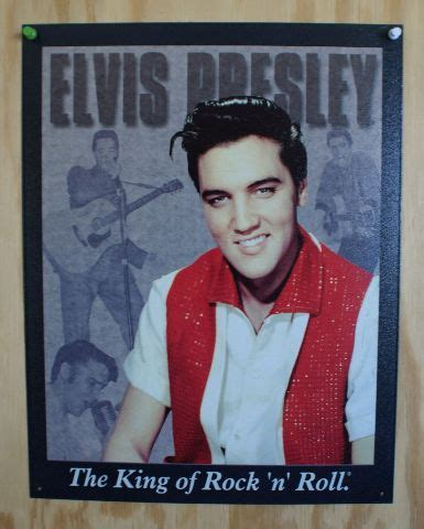 Elvis Presely King of Rock n Roll Tin Sign 50's Sun