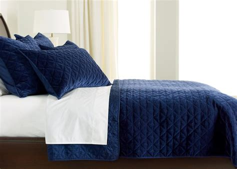 dark blue coverlet gresham navy velvet coverlet bedding