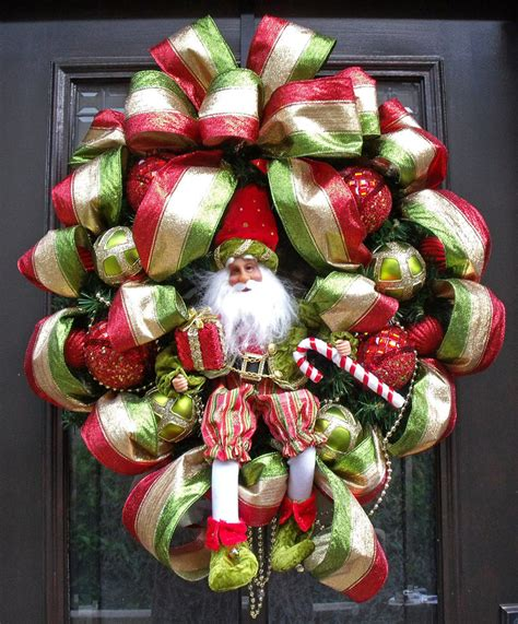 designer christmas wreath santa wreath christmas door