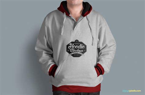 free hoodie mockup psd zippypixels