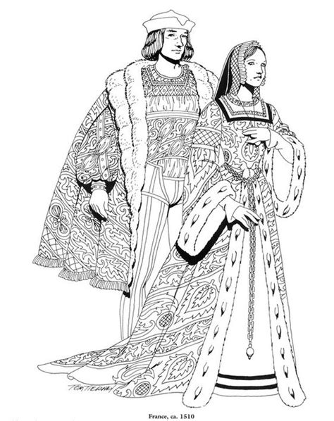 renaissance dress coloring page coloring page clothing of the renaissance kids n fun