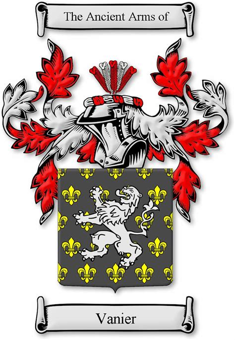 house of names com armoiries et blasons de la famille vanier