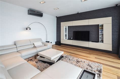 Neutral Living Room Apartment Two Story Penthouse Apartment Boasting A Beautiful