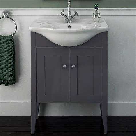 Insolito Carolla 65 Bathroom Vanity Unit And Basin Grey Bathroom Vanity Units