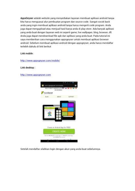 membuat aplikasi android olshop membuat aplikasi android dengan apps geyser
