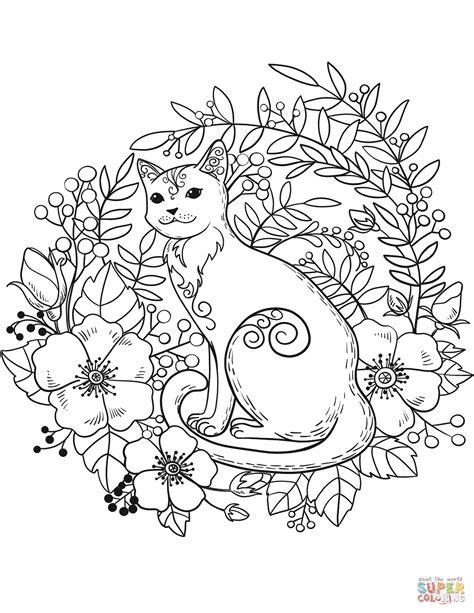 Cat Coloring Pages For Free